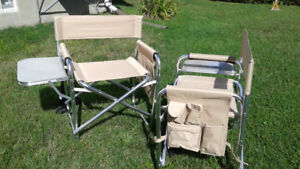 Chaise camping avec tablette