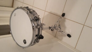 Mapex 13x3.5 Steel Snare + Pearl S830 Snare Stand (Like-New)