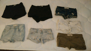 Hollister and garage shorts size 00-0