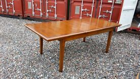 Large handmade extending dining table