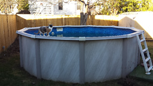14ft above ground pool & accessories