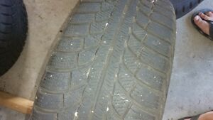 16 inch snow tires on rims used one season London Ontario image 2