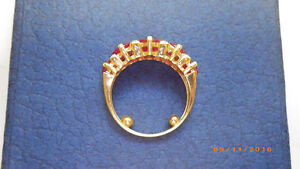 LADIES YELLOW GOLD RUBY AND DIAMOND RING Peterborough Peterborough Area image 5