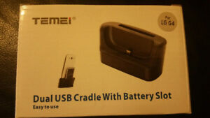 LG G4 Dual Usb Cradle with Battery Slot Charger