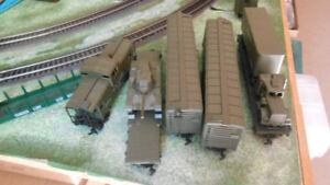 HO military train models, train set & accessories