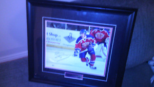 Signed autographed framed picture of mark pysyk Edmonton oil kin
