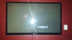"50"" LG PLASMA 1080P TV WITH WALLMOUNT"