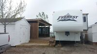 SEASONAL LOT WITH TRAILER, DECK, SHED
