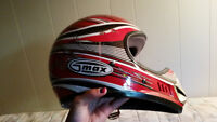 Youth Small Motocross Helmet and gloves size 4