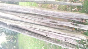 Weathered Cedar Fence Posts and Rails
