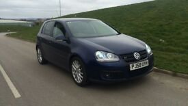 2008 58reg vw golf gt sport blue diesel***high miles***one owner**leather**xenon not a3