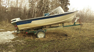 14 ft 1975 starcraft alum boat and trailer