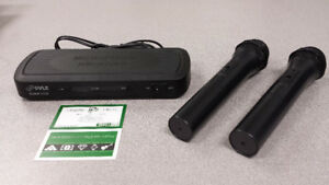 Pyle Wireless 2-Mic FM System