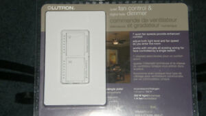 NEW LUTRON QUIET FAN CONTROL & DIGITAL FADE DIMMER