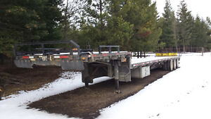 53' Manac tridem step deck trailer