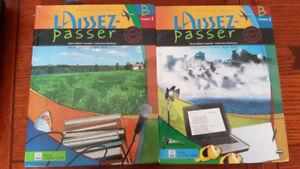 Manuels scolaires Laissez-Passer B volume 1 et 2
