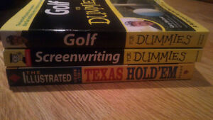 Golf/Screenwriting for Dummies +Texas Hold Em Guide + Anchorboy