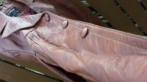 Brown Leather Coat - ALLICA of California 46 Strathcona County Edmonton Area image 4