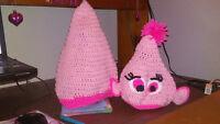 Troll Poppy Crochet Hat