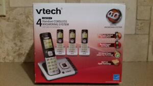 Cordless Phone and Answering Machine – 4 Handsets