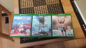 Nba 2k16, Nhl 16, Star wars battlefront for xbox one Cambridge Kitchener Area image 1