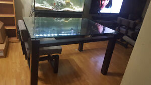 Glass top table. 100 obo