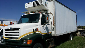97 Ford Louisville Box Truck w/ Reefer, COMPLETE OR FOR PARTS