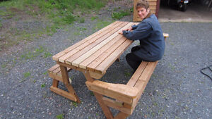 Picnic table/bench convertible