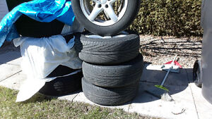 215-60-r16   like new  mag and tire  Michelin  performance