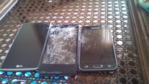 Phones still work just need new screens all working otherwise