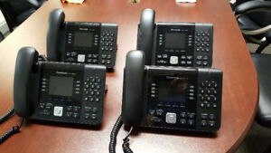 4 Panasonic KX-UTG200B SIP Phones Excellent Condition