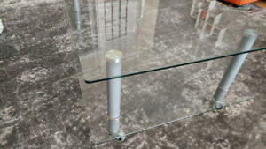 IKEA glass table / TV stand