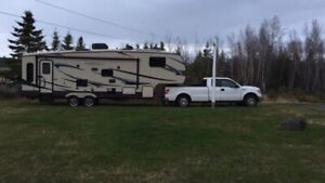 Beautiful 5th wheel trailer with truck