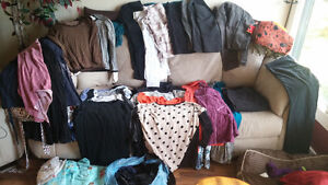 Grab bag of dress/casual, gently used clothing sizes 10/12 - M\L