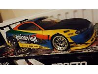 Rc drift car trf416 , brushless system l, 2s lipo , not hpi, traxxas , nitro , baja