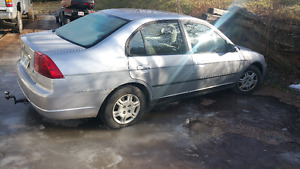 2002 silver 4door manuel civic