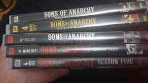 Seasons 1-5 sons of anarchy