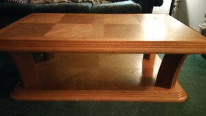 Pine coffee table and 2 matching end tables