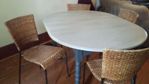 Wicker Chairs & Expanding Table For Sale!