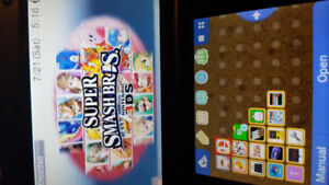 nintendo 3ds modded with 2 sd cards 64gb and 8gb