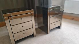 Bedside Glass Cabinet