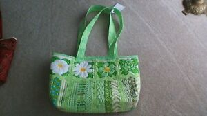 Carry All Ladies Shoulder Tote Bag Apple Green