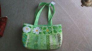 Carry All Ladies Shoulder Tote Bag Apple Green