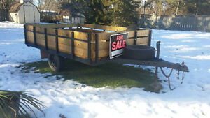 trailer 6x10 wood/metal frame