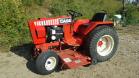1982 CASE 448 Garden Tractor wCutting Deck, Tiller, Blade/Chains
