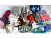 big lot of Women's scarves and shawls