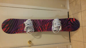Brand New Never Used Women's Snowboard and Bindings