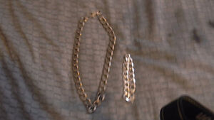 matching giant silver chain and bracelet