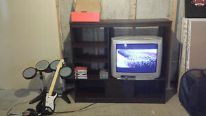 Package deal. Tv/Stand/Play Station 2/Rock band kit