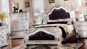 Full king size bed set mint condition